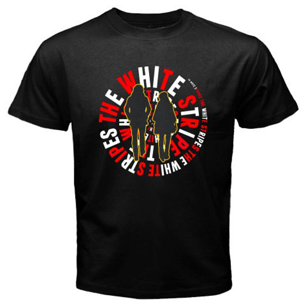THE WHITE STRIPES Rock Alternative Rock Band Men's Black T-Shirt ...