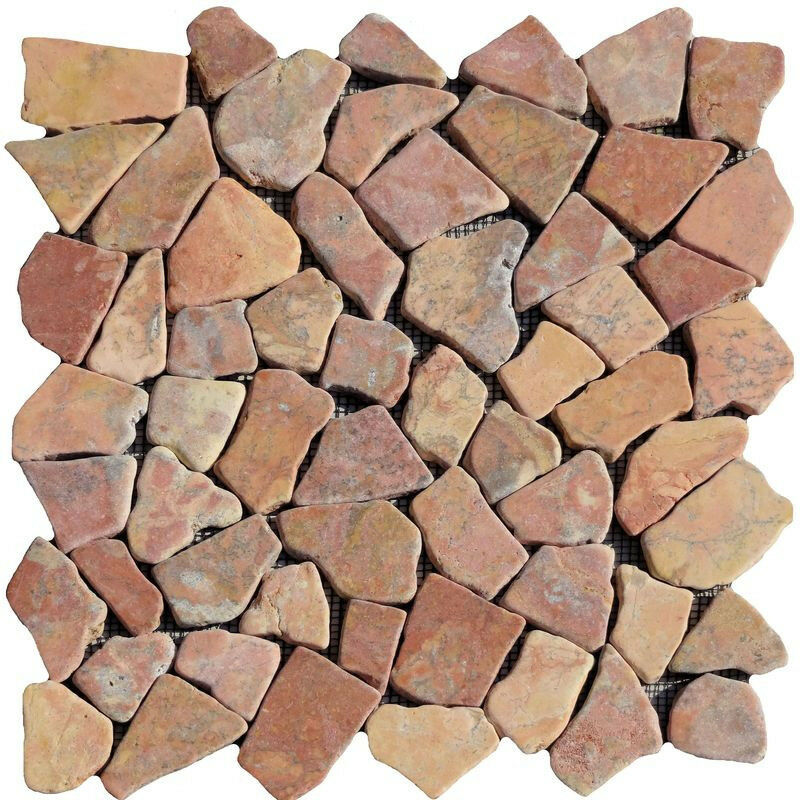 bruchmosaik rosso mosaik marmor granit naturstein fliesen glasmosaik wand boden ebay. Black Bedroom Furniture Sets. Home Design Ideas