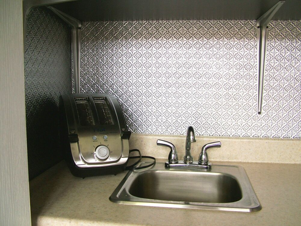 faux tin backsplash roll wc20 stainless steel 15 ft for