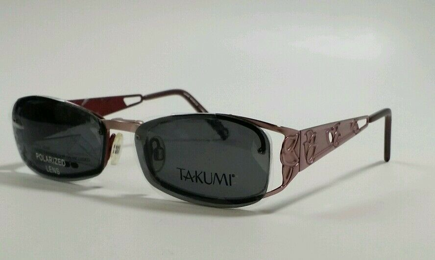 743d21b250 TAKUMI Magnetic Sun Clip Women  39 s Eyeglasses T9768 SATIN PINK NEW!