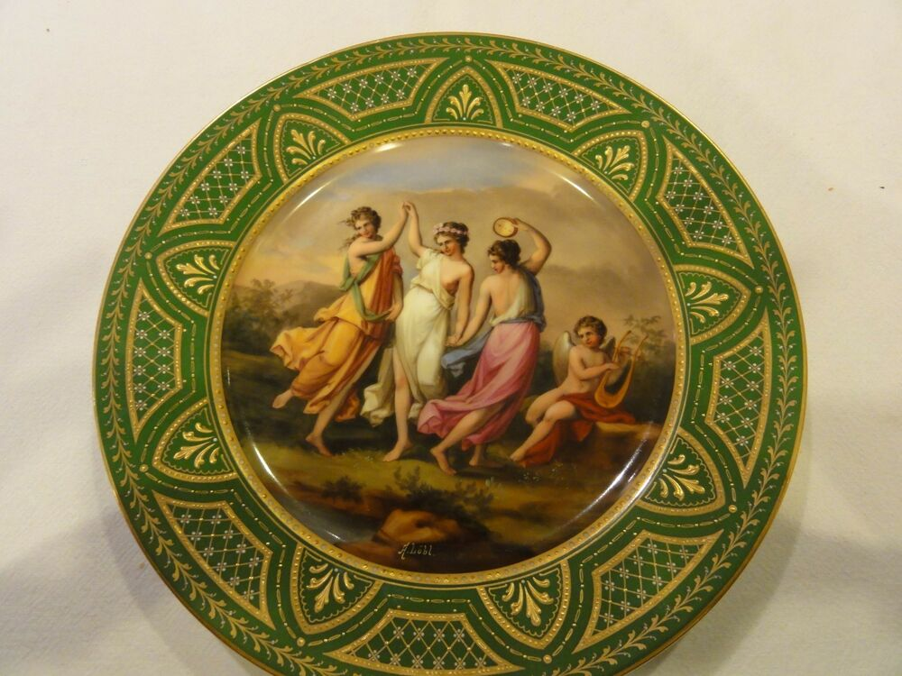 Beautiful Royal Vienna Plate Signed Lobl Ebay