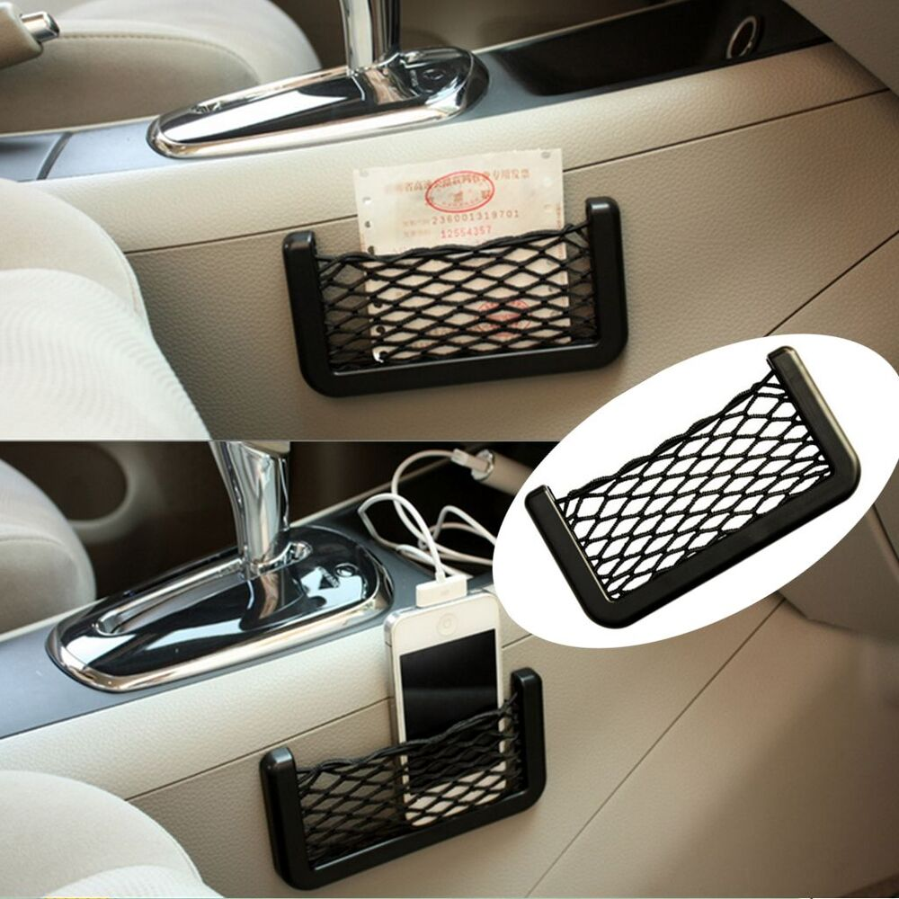 car storage mesh net resilient string phone bag holder organizer for hyundai kia ebay. Black Bedroom Furniture Sets. Home Design Ideas