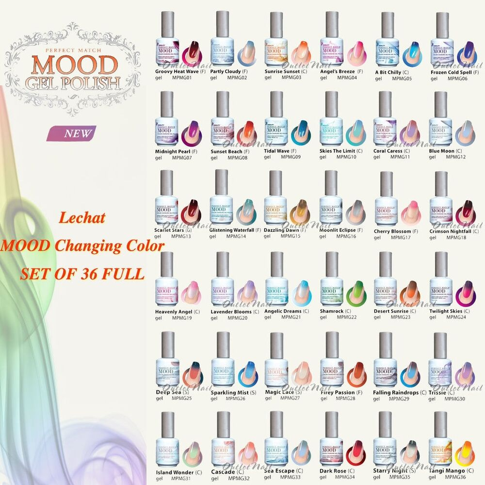 Lechat Perfect Match Mood Set 36 New Changing Colours 2014 Gel Polish Collection Ebay