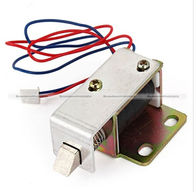 1 pc cabinet door electric lock assembly solenoid dc 12v 0 for 12v door latch