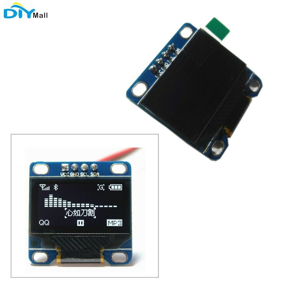 diymall inch serial 128x64 oled lcd led white display module for arduino ebay. Black Bedroom Furniture Sets. Home Design Ideas