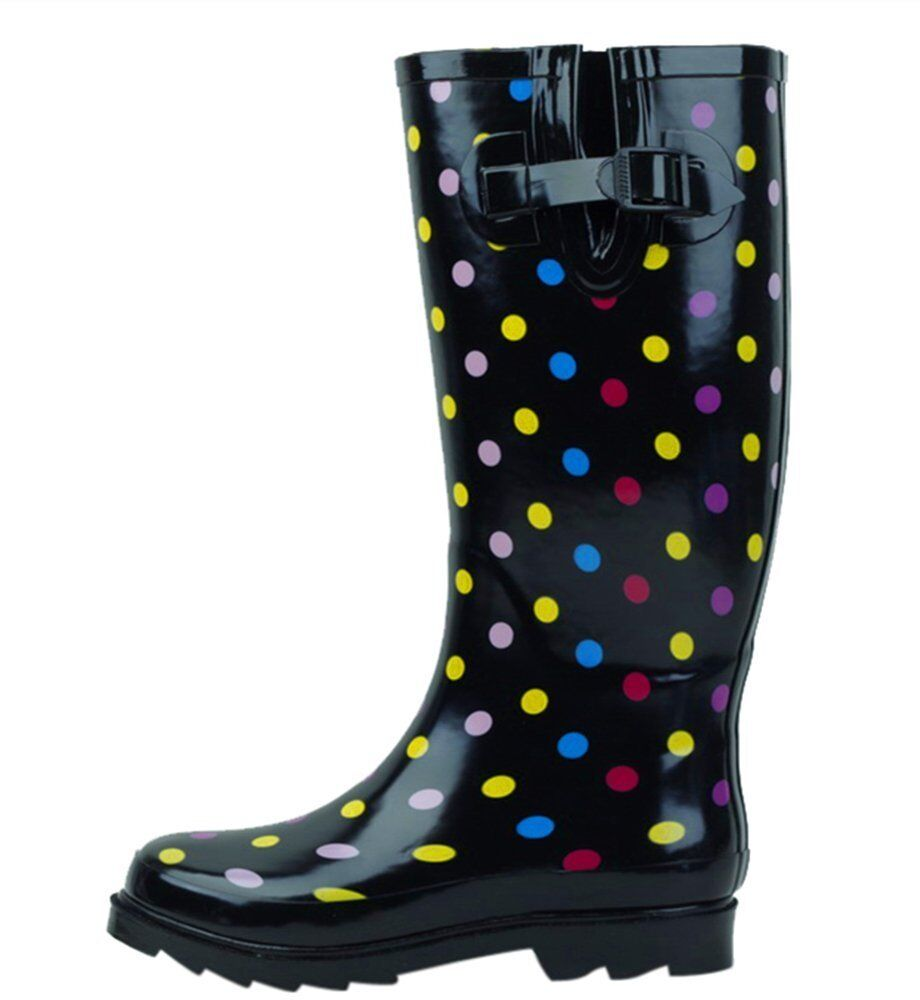 Wonderful Capelli New York Black Polka Dot Rain Boot  Women  Zulily