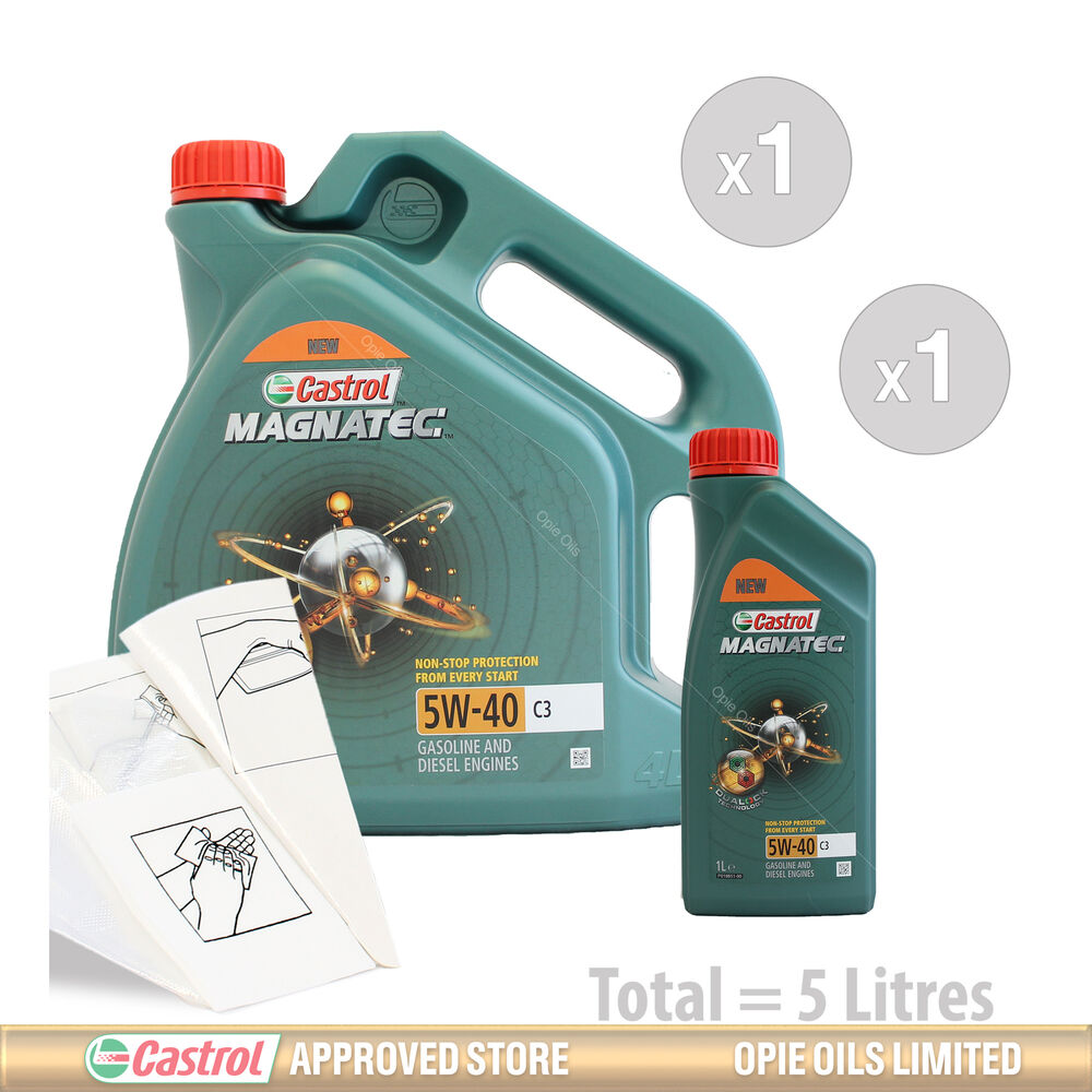 engine oil service kit 5 litres of castrol magnatec 5w 40. Black Bedroom Furniture Sets. Home Design Ideas