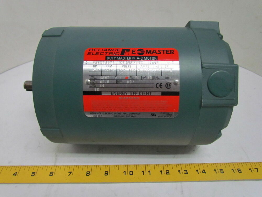 Reliance duty e a c electric motor 3 4 hp 1725 rpm 230 for 3 hp electric motor