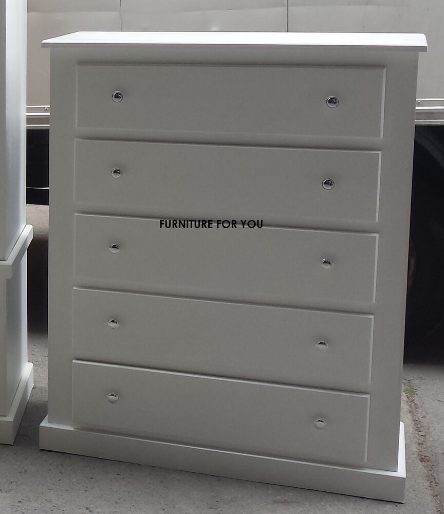 Hand made berkeley white drawer chest ready assembled