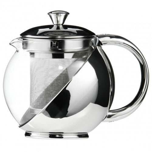 Modern sylish stainless steel glass teapot with loose tea leaf infuser tea pot ebay - Tea pots with infuser ...