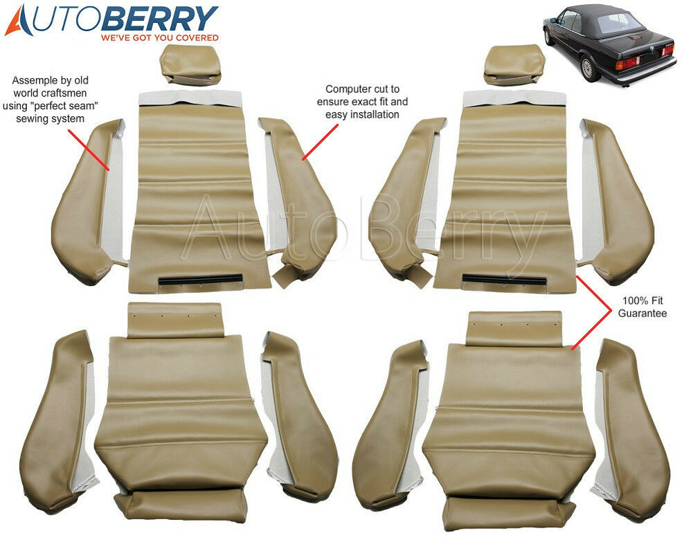 Bmw E30 325i 320i 318i M3 87 93 3 Series Leatherette Seat Covers Replacement Ebay