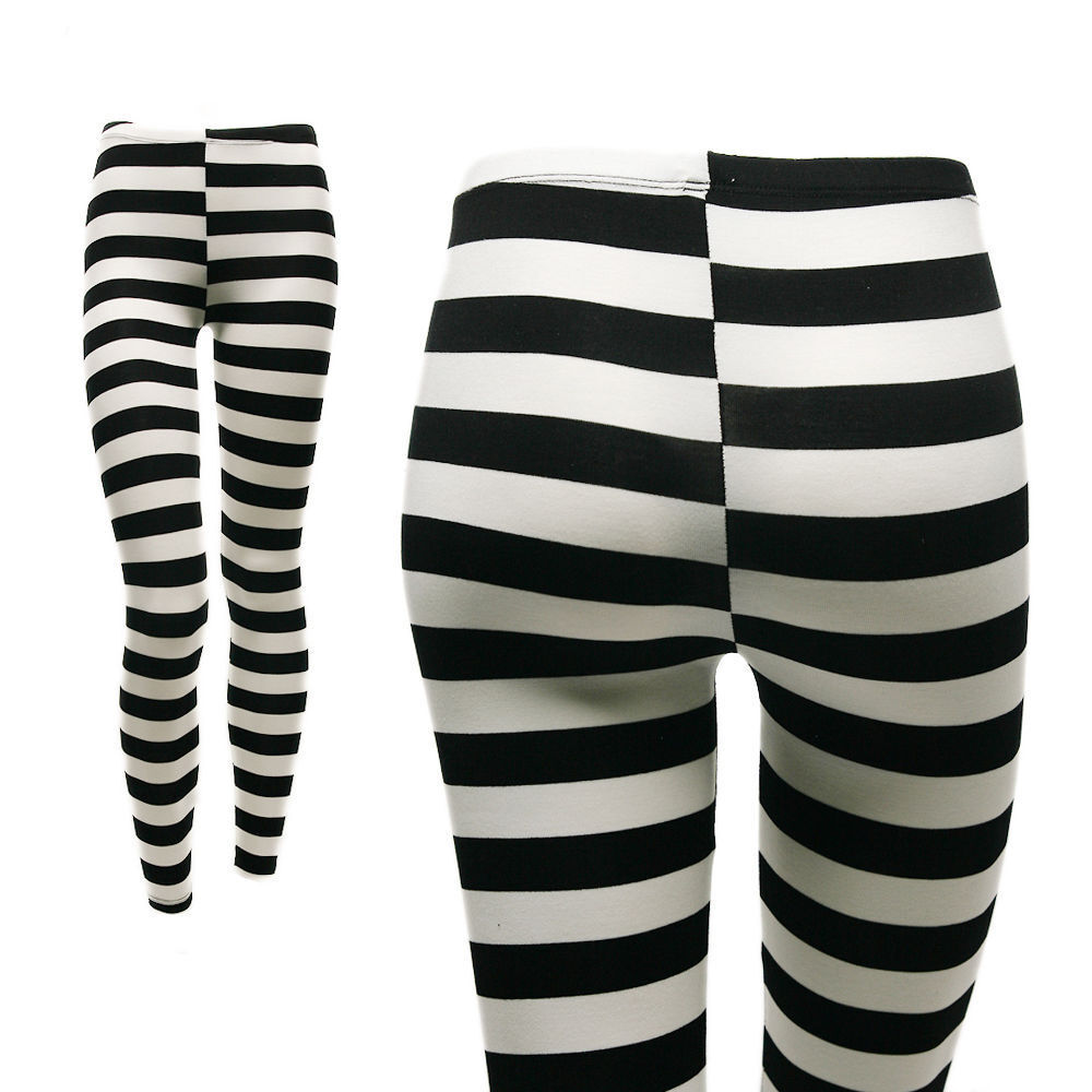 These funky black and white tights will mess with your head! Plus size 1x-3X.