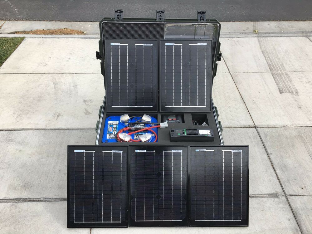 Tactical Self Contained Solar Power Generator Ebay