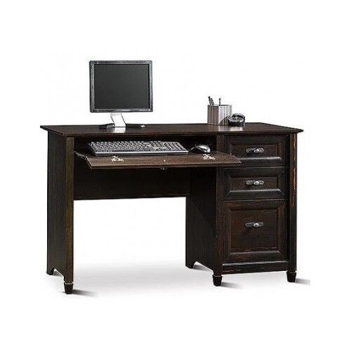 wooden office desk antique black computer pc cottage home study small corner new ebay