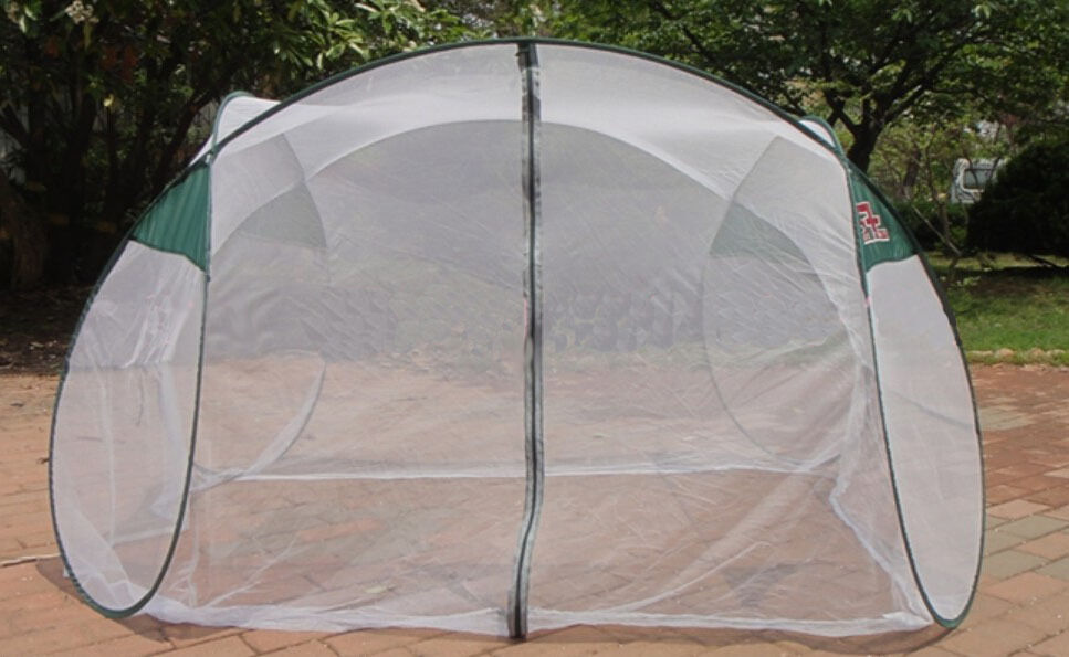 Portable Mosquito Netting : Standing portable folding mosquito net insect camping