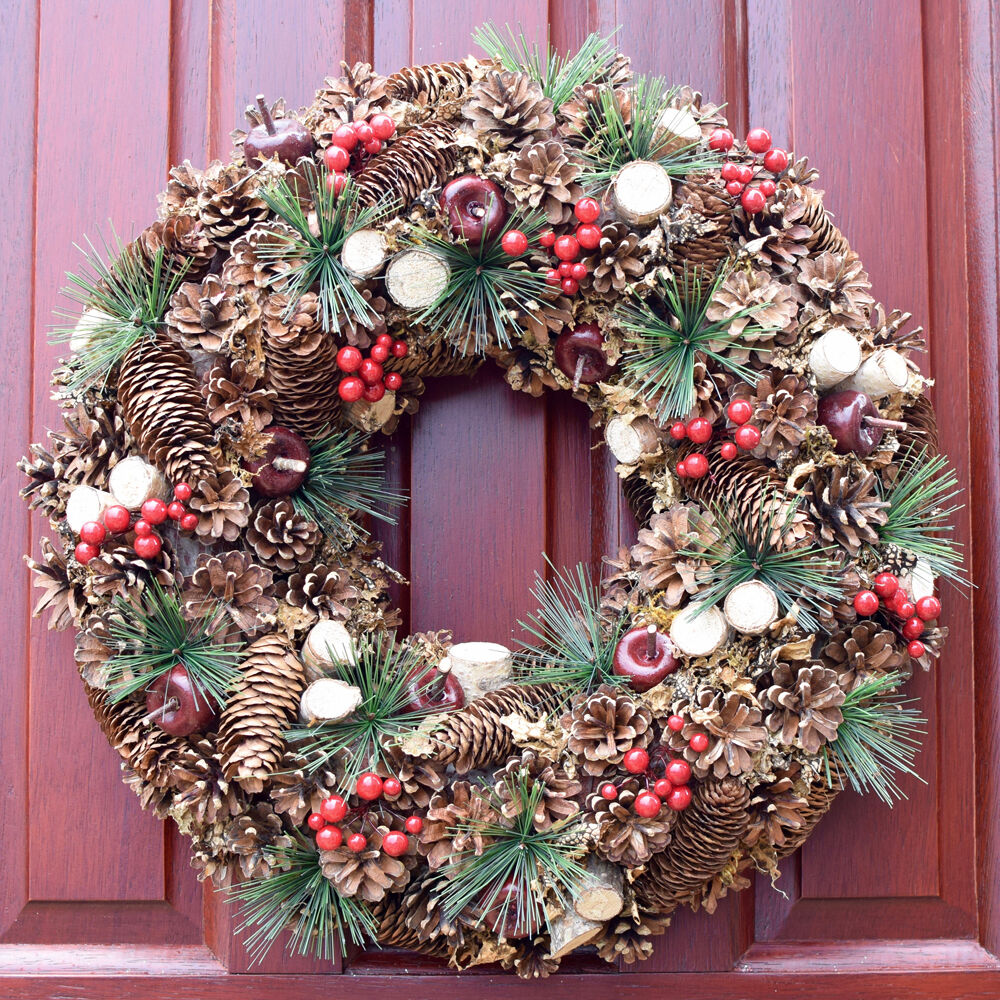 Artificial christmas wreaths door table wall wreath xmas ...
