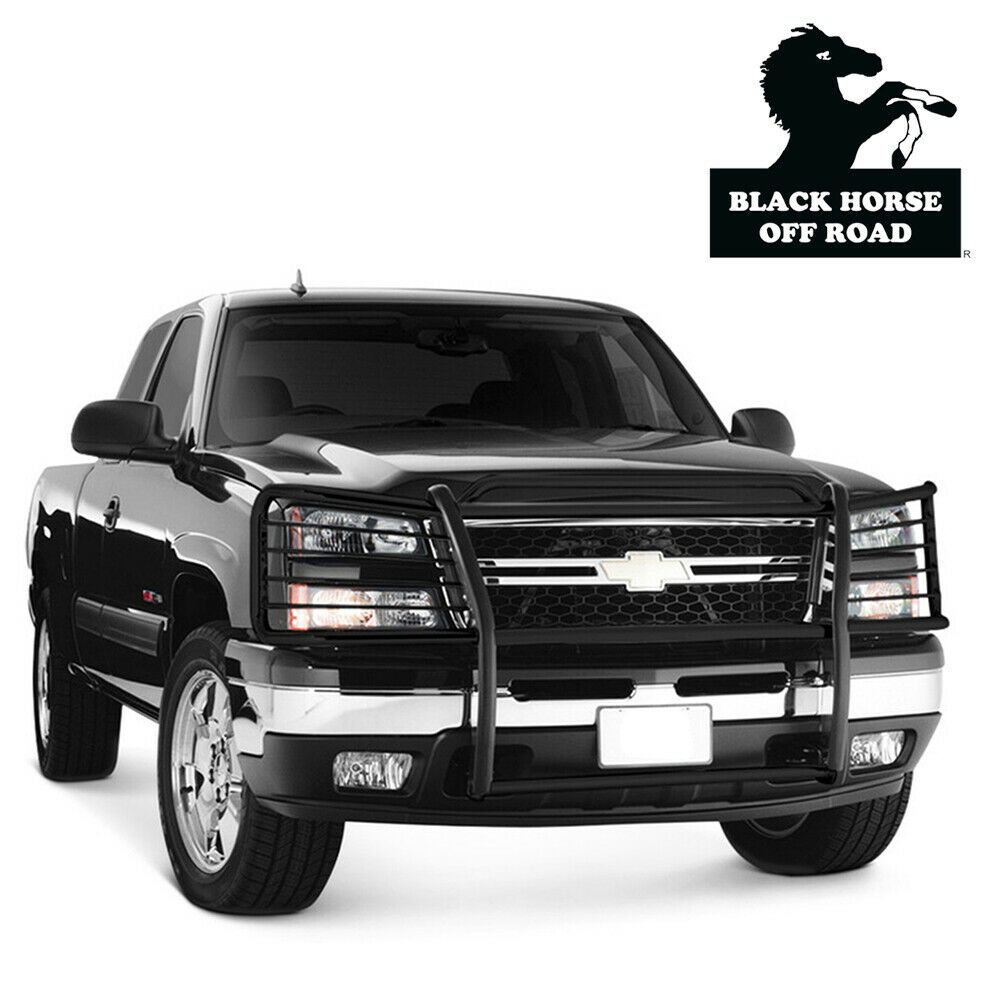 fits 03 06 chevy silverado 2500hd 3500 black grill bumper. Black Bedroom Furniture Sets. Home Design Ideas