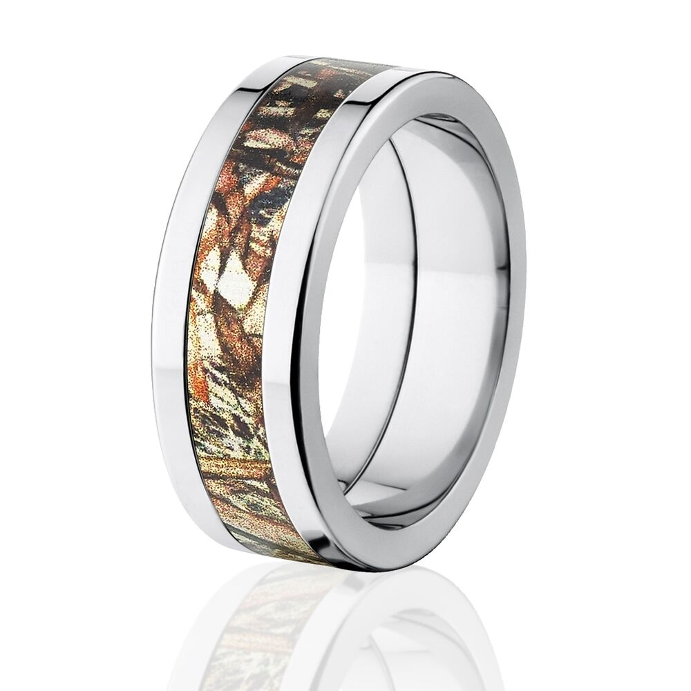 Duck blind camo wedding rings mossy oak camouflage bands for Camoflauge wedding rings