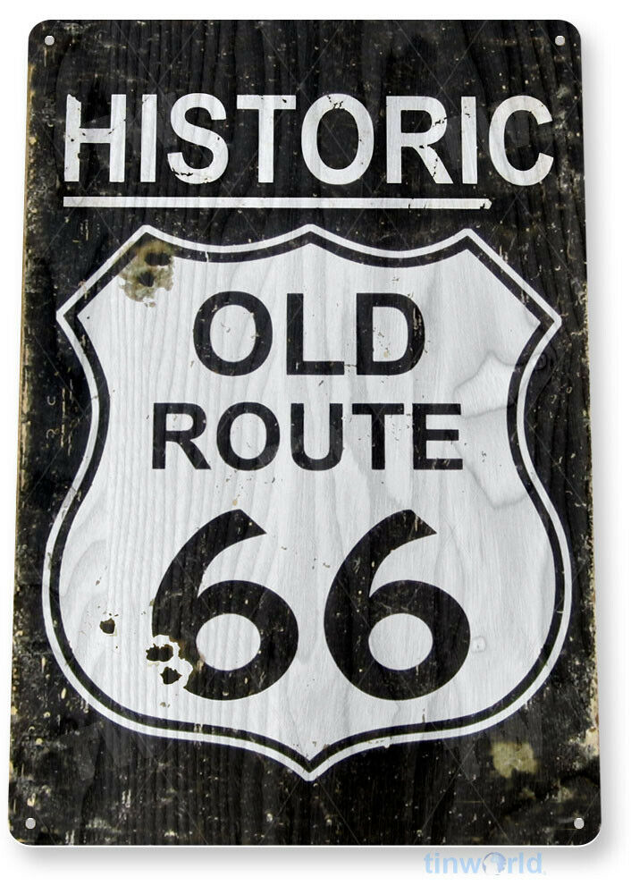 Tin Sign Route 66 Historic Metal Decor Wall Art Store
