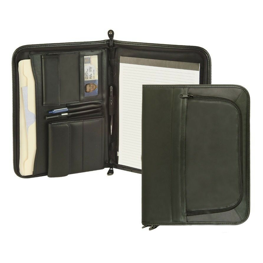NEW Leatherette PREMIUM BINDER FOLDER PORTFOLIO ORGANIZER