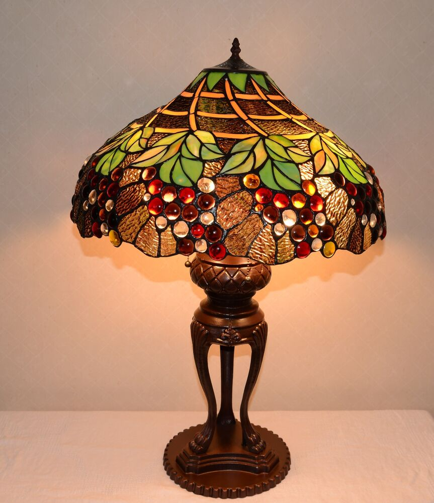 Emperor Large 20 Quot W Grapes Stained Glass Tiffany Style