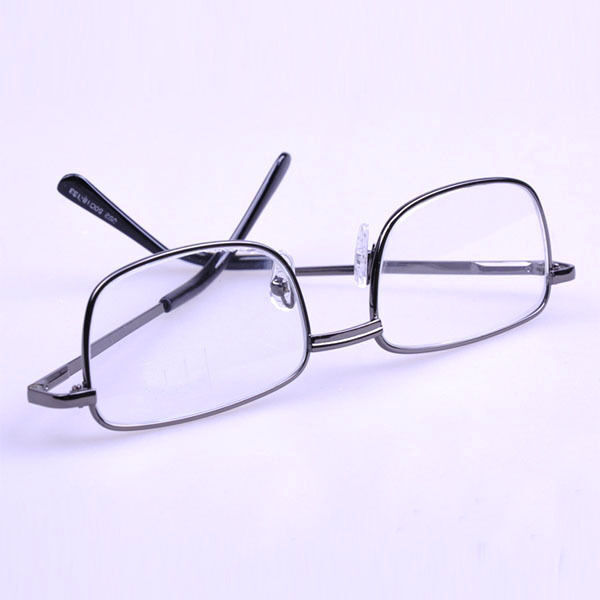 Gray Frame Reading Glasses : Unisex Presbyopia Eyewear Metal Grey Frame Reading Glasses ...