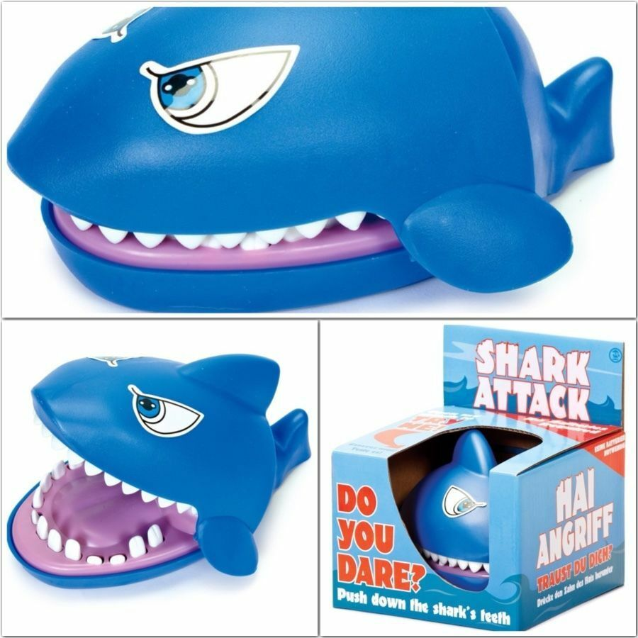 Shark Toys And Games : Tobar shark attack snapping game pushing teeth toy family