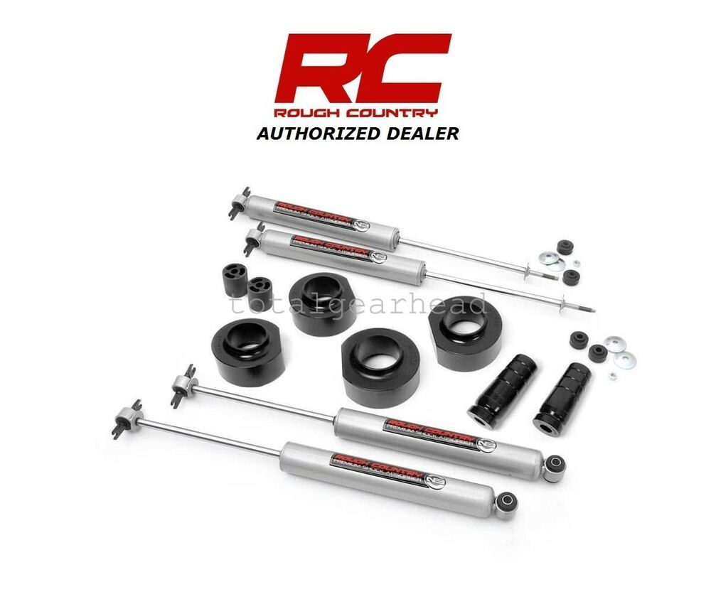 """Rough Country 5 Inch Suspension Lift Kit: 93-98 Jeep ZJ Grand Cherokee 4WD 1.5"""" Rough Country"""