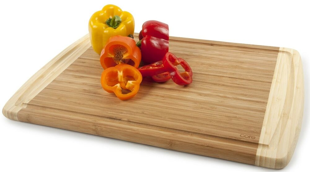 Bamboo Cutting Board Extra Large Core Knives Long Carving