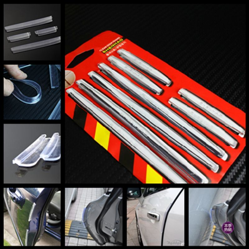 8 X Clear Protector Scratch Strip Protection Car Door Edge