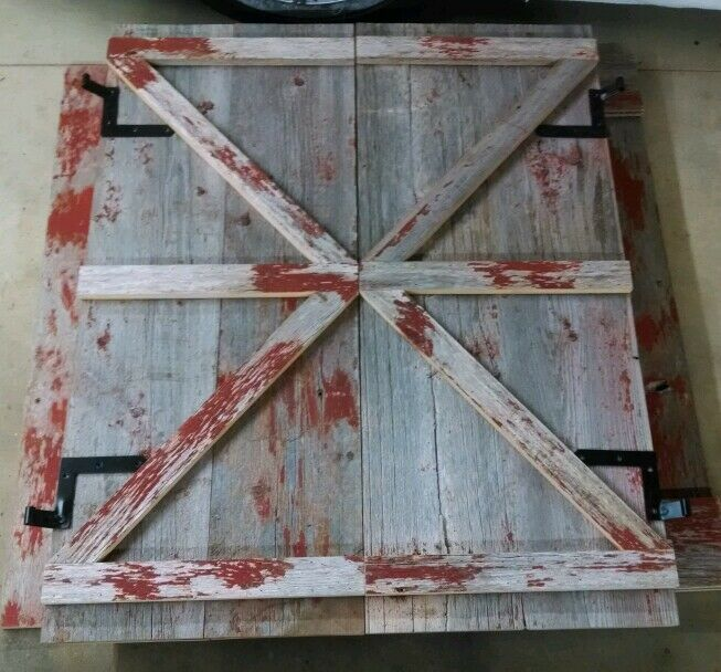 Custom Reclaimed Salvaged Barn Wood Shutters Ebay