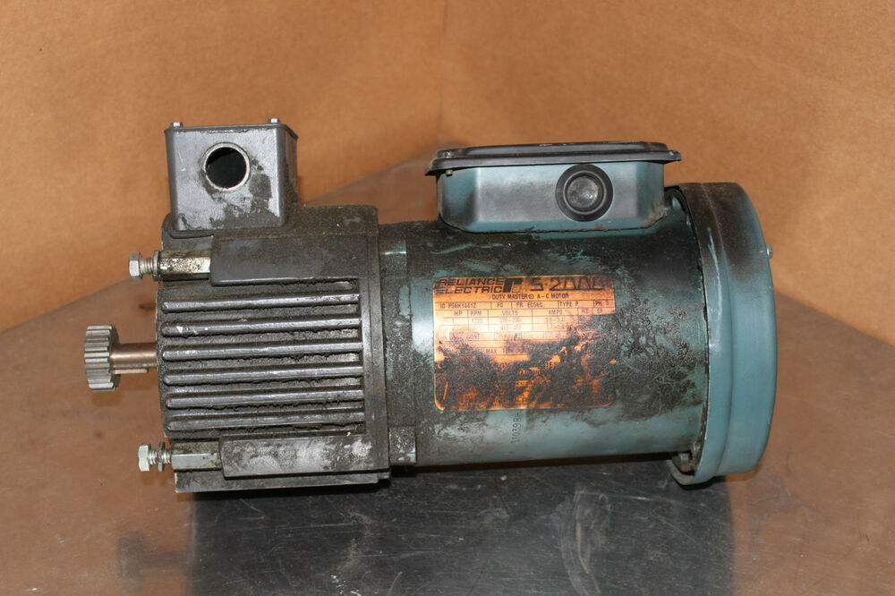 Reliance electric motor p56h1441z 1hp 1725rpm w stearns for Electrical braking of dc motor