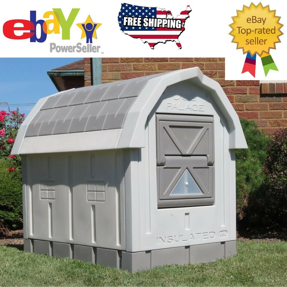 Asl solutions insulated medium large dog house palace for Large insulated dog house
