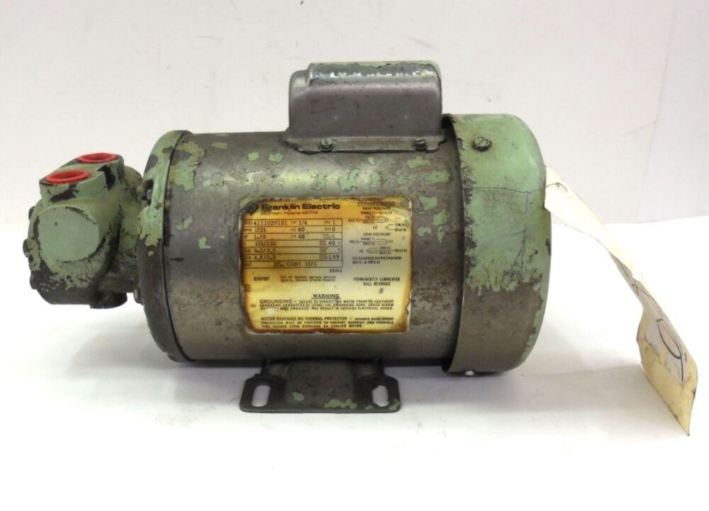 Franklin electric motor 4111020101 1 4 hp 1 phase 1725 for 1 4 hp 1725 rpm motor