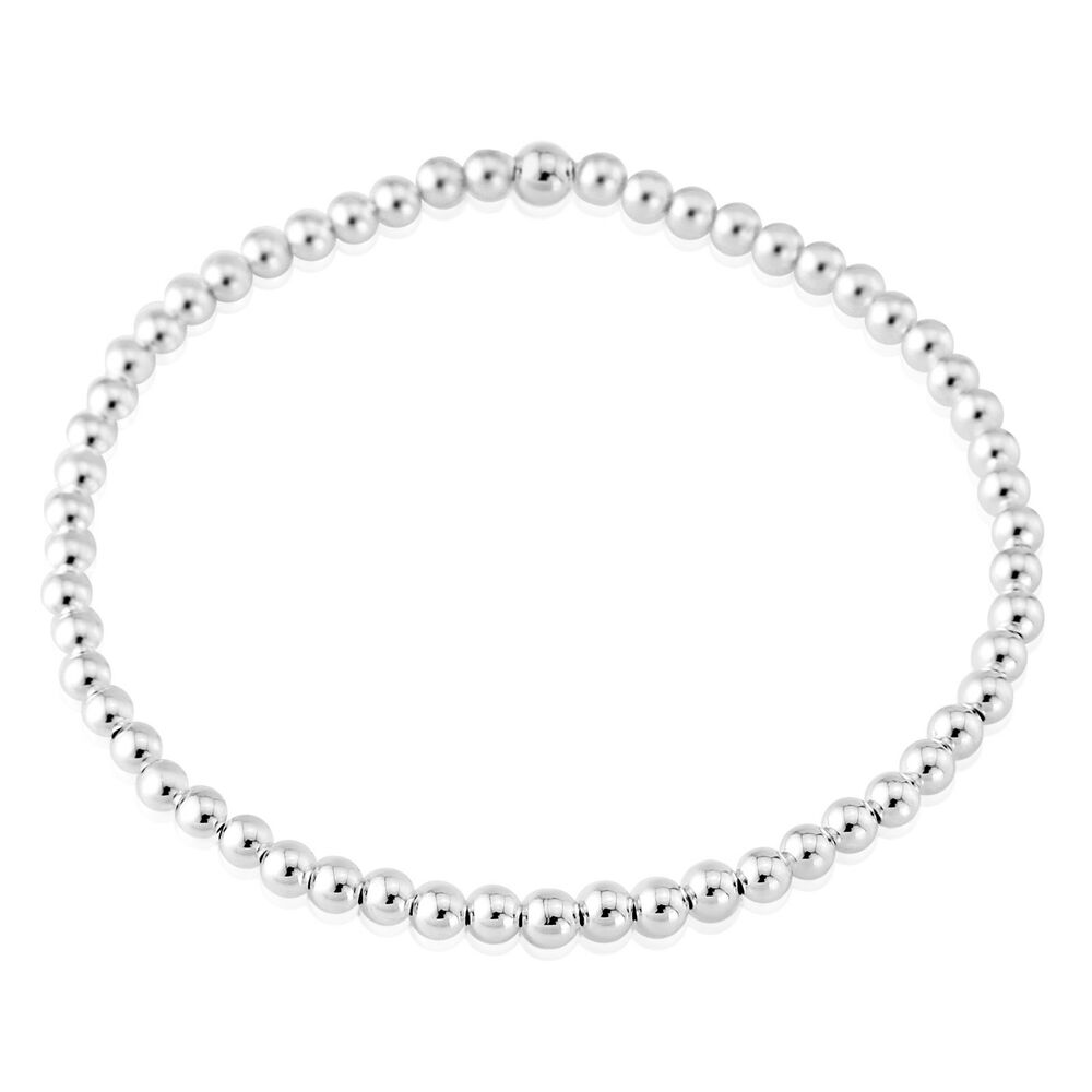 sterling silver beaded bracelet small circle