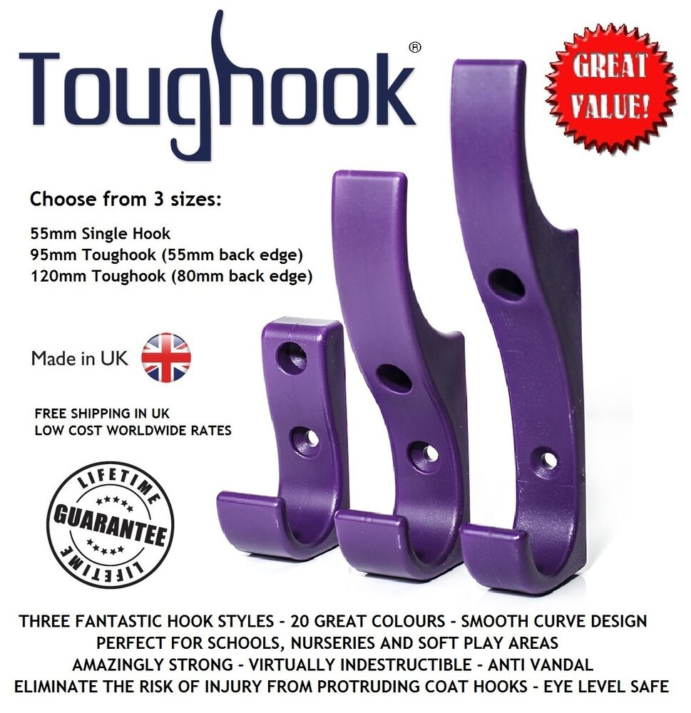 10x toughook super strong safety coat hooks for schools unbreakable