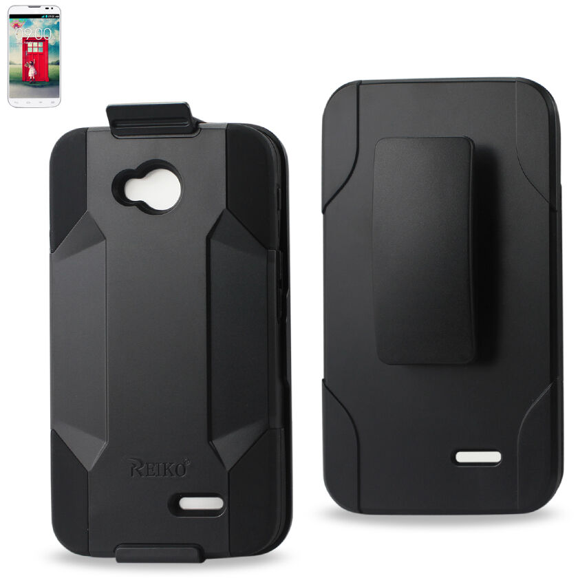 Reiko LG Optimus L70 / Realm Hybrid Heavy Duty Holster Combo Case with ...