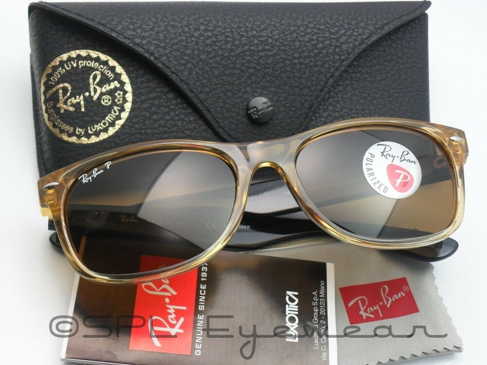 ray ban rb2132 wayfarer sunglasses honey frame