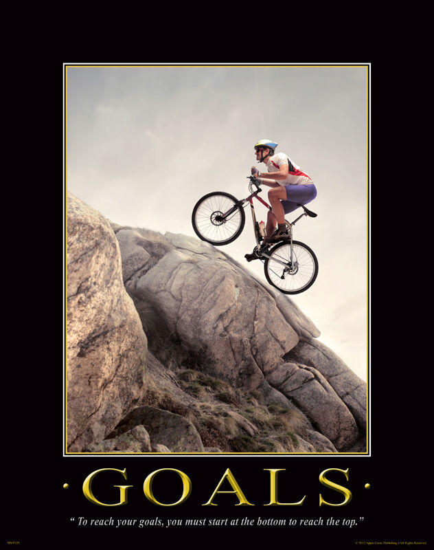 Bicycle Motivational Poster Art Print Mountain Road Bike