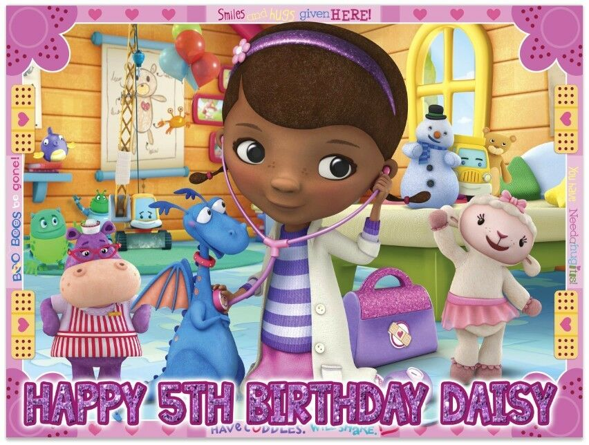 Doc Mcstuffins Ice Birthday Edible Image Cake Topper Personalized ...