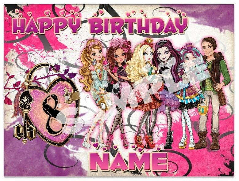 Ever After High Birthday Edible Image Cake Topper ...