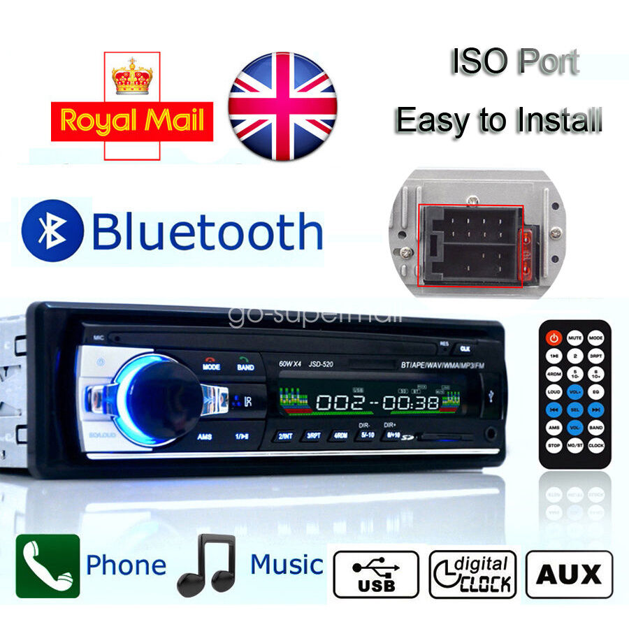 Car Radio Bluetooth Stereo Head Unit Player MP3/USB/SD/AUX