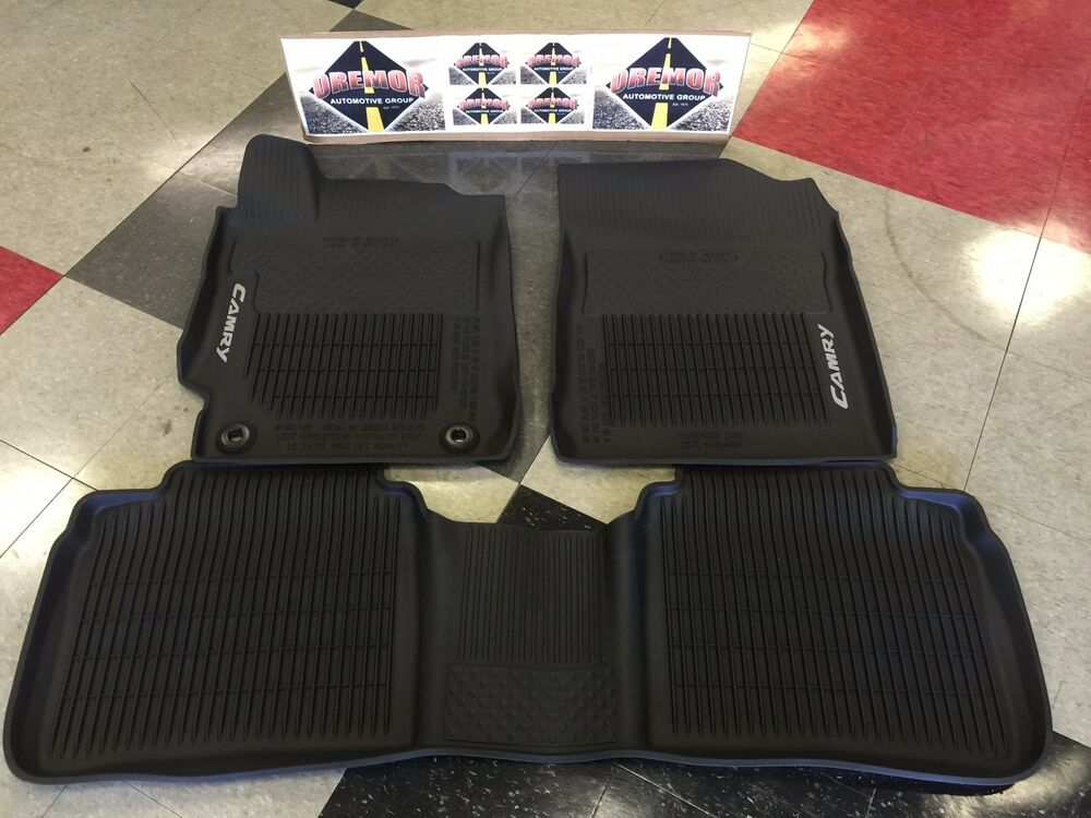 Genuine toyota 2015 2017 bold new camry all weather floor for Original toyota floor mats