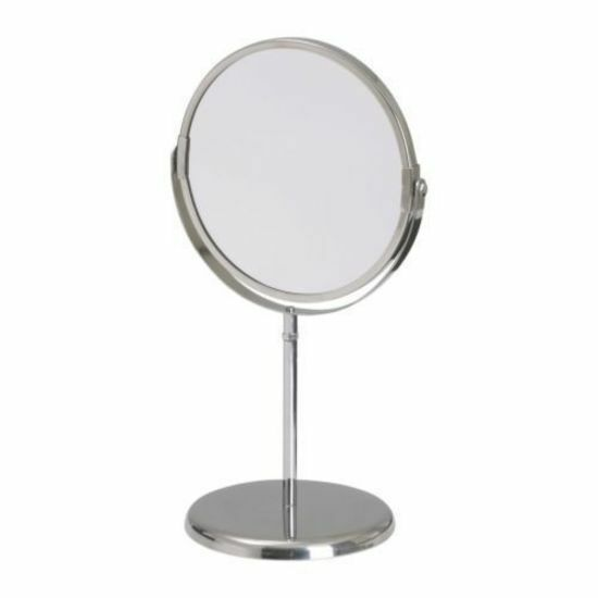 Stand Dual Side Makeup Mirror Beauty Magnifying Bathroom