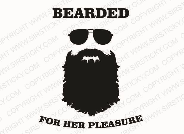 Bearded man pleasure vinyl decal funny beard lumbersexual metrojack car sticker ebay
