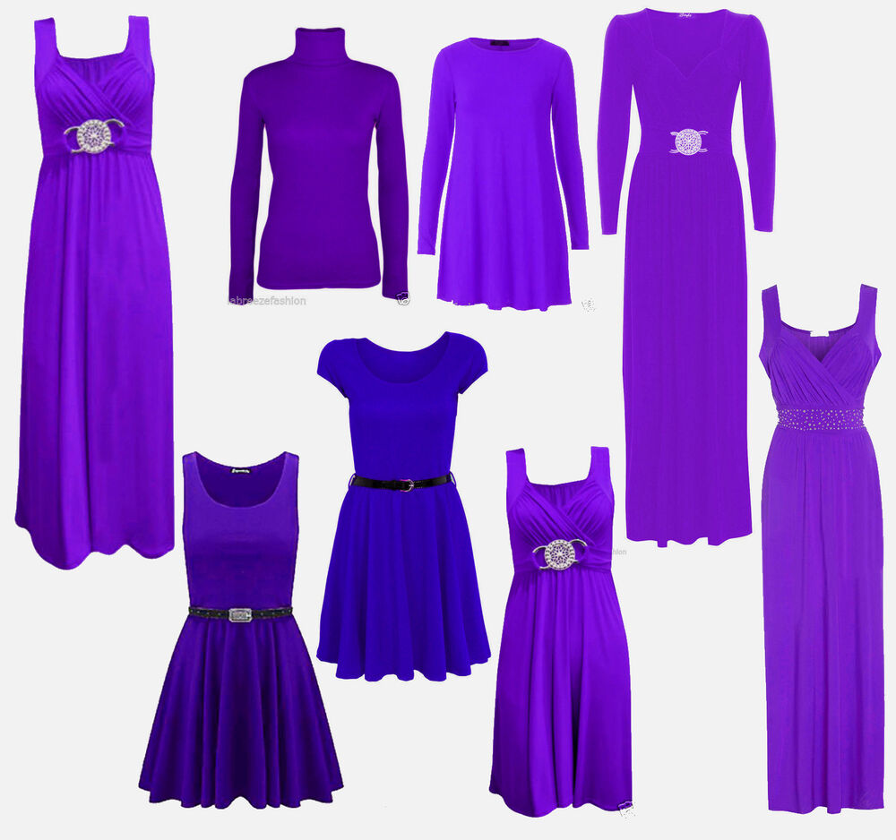 Ladies wedding guest evening purple swing diamante maxi for Purple maxi dresses for weddings