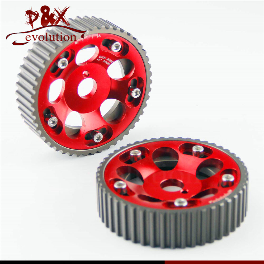 History Of Pulleys And Gears : Pcs adjustable cam gears pulley timing gear for toyota
