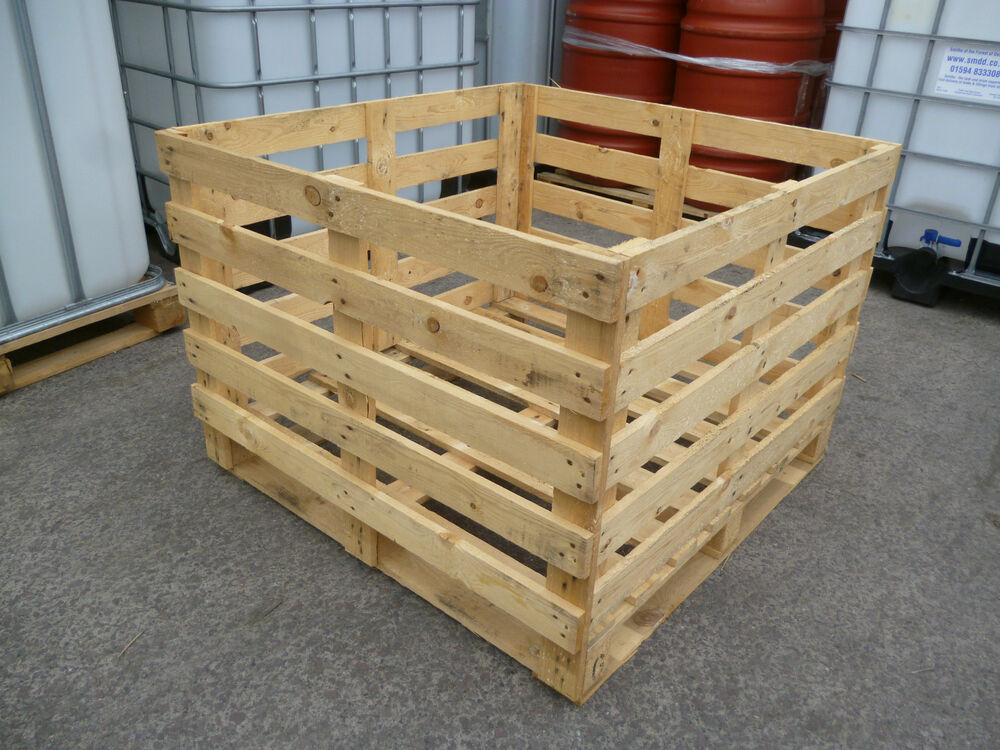 Wooden crate 1100 x 1100 fruit vegetable box crate pallet for Timber crates