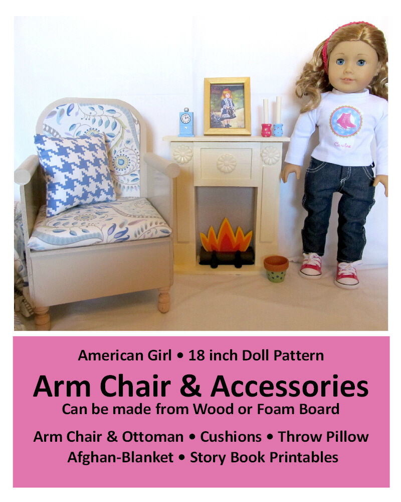 American Girl 18 Doll House Furniture Pattern Arm