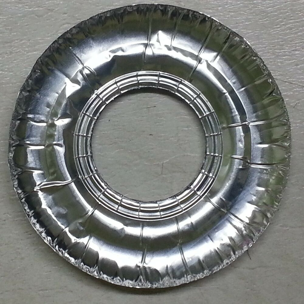 100 Aluminum Foil Round Gas Burner Disposable Bib Liners